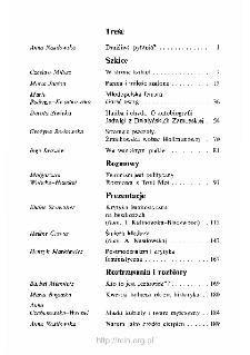 Teksty Drugie Nr 4-5-6 (1993), Spis treści