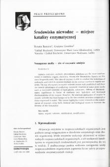 Nonaqueous media - site of enzymatic catalysis