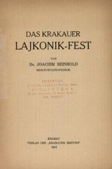 Der Krakauer Lajkonik-Fest : folkloristische Studie