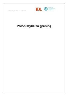 Polonistyka za granicą