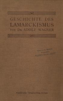 Geschichte des Lamarckismus: als Einführung in die psycho-biologische Bewegung der Gegenwart