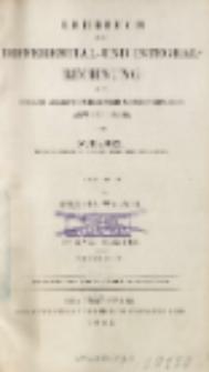 Lehrbuch der Differential- und Integral-Rechnung mit vielen analytischen und geometrischen Anwendungen. T. 1