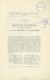 Liste des oiseaux du Kamtschatka et des iles Comandores