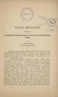 Wykaz mięczaków zebranych w okolicach Przemyśla, tudzież w dorzeczu górnego Strwiążu i Sanu
