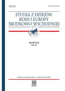 Studia z Dziejów Rosji i Europy Środkowo-Wschodniej, Vol. 53 (2018), Special Issue, Title pages, Contents