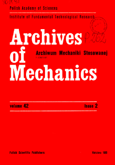 Archives of Mechanics Vol. 42 nr 2 (1990)