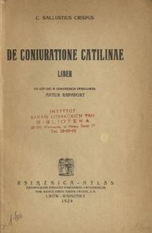 De coniuratione Catilinae liber