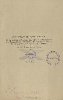 Neuroptera succinica baltica : Die im baltischen Bernstein eingeschlossenen Neuropteren des Westpreußischen Provinzial-Museums (heute Museum für Naturkunde und Vorgeschichte) in Danzig
