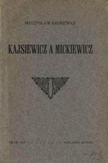 Kajsiewicz a Mickiewicz