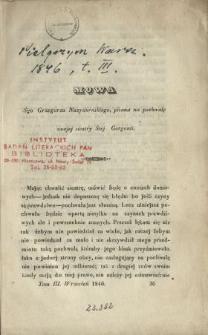 Mowa Śgo Grzegorza Nazyaneńskiego pisana na pochwałę swojej siostry Śtej Gorgonii