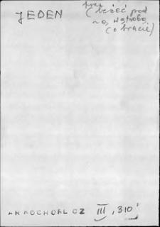 Kartoteka Słownika języka polskiego XVII i 1. połowy XVIII wieku; Jeden1