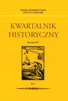 Kwartalnik Historyczny R. 115 nr 3 (2008), Strony tytułowe, Spis treści