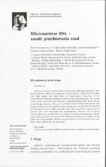 Mikromacierze DNA - zasady projektowania sond