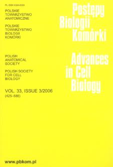 Postępy biologii komórki, Tom 33 nr 3, 2006
