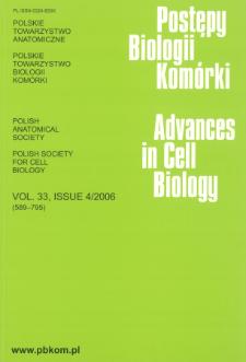 Postępy biologii komórki, Tom 33 nr 4, 2006