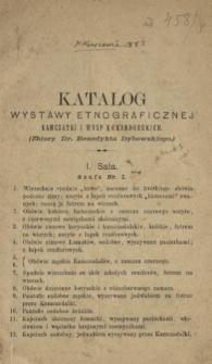 Katalog wystawy etnograficznej Kamczatki i Wysp Komandorskich : (Zbiory Dr. Benedykta Dybowskiego)