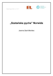 """""""Szatańska pycha"""" Norwida"""