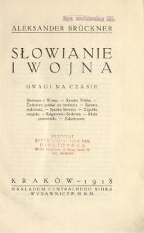 Słowianie i wojna : uwagi na czasie