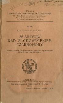 Ze studyów nad zlodowaceniem Czarnohory