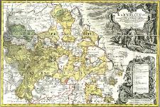 Principatvs Silesiae Karnoviensis nova et exactissima Tabula geographica : commonstrans insimul districtus ac Status minores Freudenthal Olbersdorf et Stevberndorf