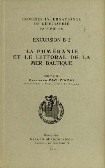 Congrés International De Géographie, Varsovie 1934. Excursion B 2, Le Poméranie et le littoral de la Mer Baltique