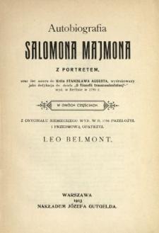 Autobiografia Salomona Majmona. [Cz. 1]