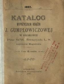 Katalog wypożyczalni książek J. Gumplowiczowej w Krakowie, Plac WW. Świętych L. 8. naprzeciw Magistratu