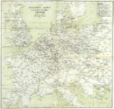Karta želěznyh'' dorog'' parahodnyh'' soobŝenìj Evropy : po novějšim'' cvědenìâm'' : priloženìe k'' putevoditelŭ po klimatolečebnym'' mĕstnostâm''