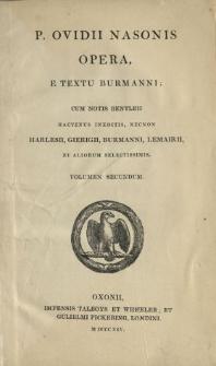 P. Ovidii Nasonis Opera. Vol. 2