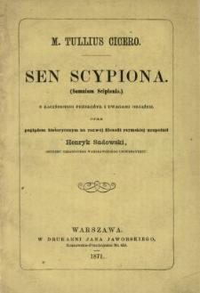 Sen Scypiona (Somnium Scipionis )