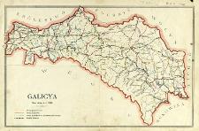 Galicya stan dróg w r. 1893 : [mapa]