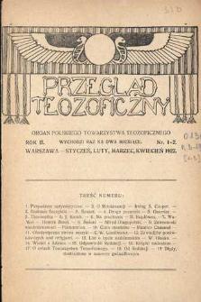 Przegląd Teozoficzny : organ Polskiego Towarzystwa Teozoficznego, R. 2, Nr 1-2