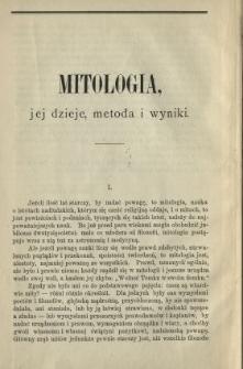 Mitologia, jej dzieje, metoda i wyniki