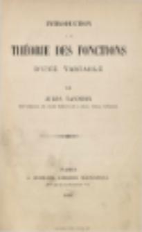 Introduction a la théorie des fonctions d'une variable