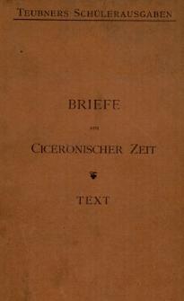 Ausgewählte Briefe aus Ciceronischer Zeit : Text mit einer Karte
