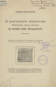 O znalezieniu mszywioła Fredericella sułtana Blumenbach na terenie byłej Kongresówki