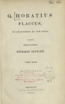 Q. Horatius Flaccus. T. 1