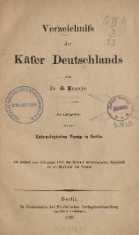 Verzeichnifs der Käfer Deutschlands