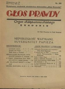 Głos Prawdy 1929 N.285