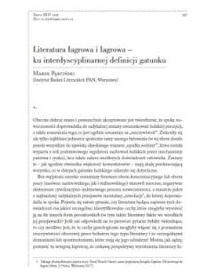 Literatura łagrowa i lagrowa – ku interdyscyplinarnej definicji gatunku