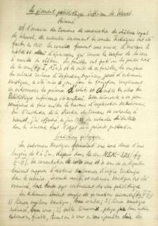 Streszczenie do pracy o stanowisku na Wawelu w języku francuskim : Le gisement paléolitique inférieur de Wawel