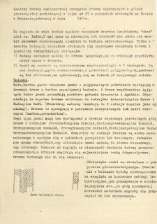 Analiza budowy anatomicznej szczątków drewna wypłukanych z glinki piaszczystej pochodzącej z lejka nr 27 w pokładach krasowych na Wawelu w Krakowie, pobranej w dniu ... 1951 roku