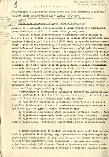 Stratygrafia i zagadnienie wieku flory kopalnej Ludwinowa w świetle wyników badań przeprowadzonych w latach 1950-1951