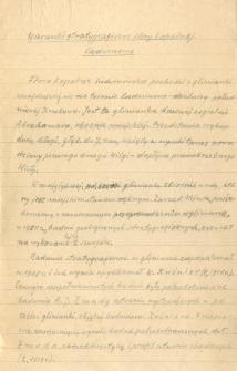 Pierwsze próby formowania myśli o wynikach badań, poprzedzające napisanie artykułu na temet stratygrafii flory kopalnej Ludwinowa