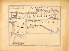 Mapa Jaskini Zbójeckiej : skala 1 : 1.000 ; Białej : skala 1 : 600 ; Krakowskiej : skala 1 : 600