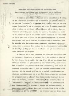 Probleme stratigraphiiques et chronologiques des stations paléolithique de Kostienki et de Borševo : Maszynopis w języku francuskim