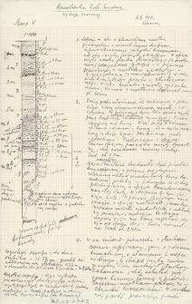 Profile szurfów 1-9 z notatkami polowymi