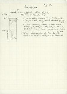 Profile szybików 1-17 z notatkami polowymi