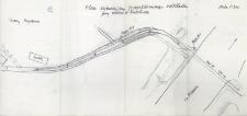 Plan sytuacyjny projektowanego odkładu przy moście w Rumlówce : skala 1 : 200