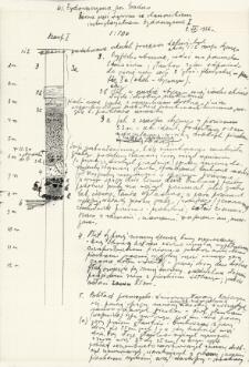 Profile i opisy szurfów na stanowiskach I, II, IV